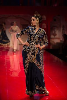 Sari by Suneet Verma at India Bridal Fashion Week 2014 Bridal Sari, Indian Bridal Wear, Indian Wear, India Fashion, Ethnic Fashion, Asian Fashion, Indian Dresses, Indian Outfits, Eastern Dresses