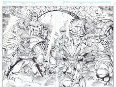 Original Comic Art titled X-Force 1 Cover, located in Thomas's Masters: Rob Liefeld Comic Art Gallery Comic Book Artists, Comic Artist, Comic Books Art, Rob Liefeld, X Force, Marvel Universe, Marvel Comics, Character Art, Art Gallery