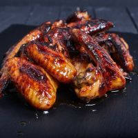 Savory Bourbon Glaze Chicken Wings