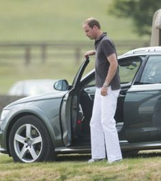 Prince William, Duke of Cambridge arrives for a charity polo match at Beaufort Polo Club, 22.06.2014 in Tetbury, England.