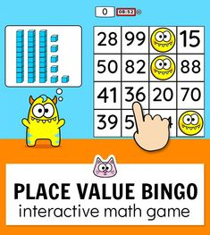 Your students will have a blast practicing place value with this fun and engaging BINGO game. It works will all interact Math Bingo, Bingo Games, Math Games, Math Activities, Learning Games, Educational Websites For Kids, Educational Games For Kids, Computer Games For Kids, Classroom Games