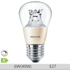 Bec LED Philips 6W E27, forma clasica P48, lumina calda Philips, Shot Glass, Bulbs, Tableware, Catalog, Lighting, Shapes, Lightbulbs, Dinnerware