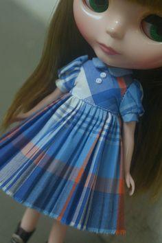 Blythe Dress  Playschool Plaids by joeykblythe on Etsy, $25.00