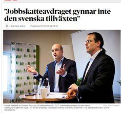 #Jobbskatteavdraget gynnar inte svensk tillväxt http://www.dn.se/debatt/jobbskatteavdraget-gynnar-inte-den-svenska-tillvaxten/
