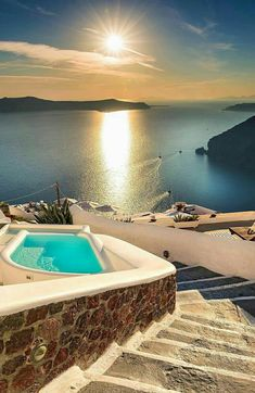 What's your dream vacation?😀💙Santorini, Greece Was ist Ihr Traumurlaub? Vacation Places, Honeymoon Destinations, Dream Vacations, Vacation Spots, Places To Travel, Places To Visit, Greece Destinations, Vacation Trips, Italy Vacation