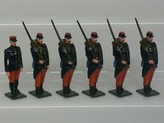 FRENCH INFANTRY WORLD WAR ONE 1914 TOY SOLDIER SET