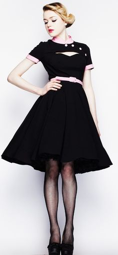 Poesy dress pink Hell Bunny <3 I would love to wear this