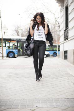 pantalones encerado, look del dia, outfit, cazadora, blogger, blog de moda, moda, trucos