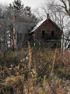 Abandoned houses always make me wonder who lived there, where they went and what happened that made them leave their home ...