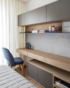 Moody Teen Bedroom Makeover - Part 1 Home Office Space, Home Office Furniture, Home Office Decor, Bedroom Furniture Design, Home Desk, Furniture Nyc, Furniture Movers, Design Bedroom, Study Table Designs
