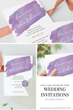 Romantic and stylish wine watercolor wedding stationery. Make a statement with this gorgeous budget-friendly wedding invitation. Print as many times as you want! #redwatercolor #winewatercolor #redwatercolorinvitation