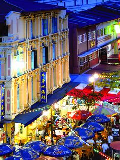 Pagoda Street by night. Chinatown, Singapore. by williamcho, via Flickr
