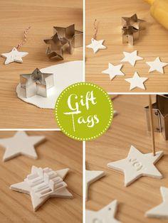 :: zweimalB :: DIY - Schritt für Schritt - Anleitung in Bildern für Geschenke - Anhänger / Gift Tags aus selbsthärtender weißer Modelliermasse
