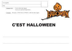 Une petite activité de graphisme sur le thème d'HALLOWEEN. Company Logo, Logos, Halloween, Language, Children, Bricolage, Logo, Spooky Halloween