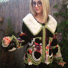 """Купить Дубленка """" Российские самоцветы"""" - дубленка, дубленка из овчины, дубленка женская, ирландское кружево"""