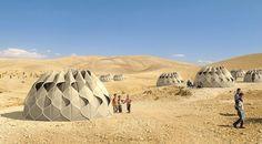 Inspririert durch Nomaden: Dieses Haus ist aus Leinen gewebt. (Copyright: Abeer Seikalyie)