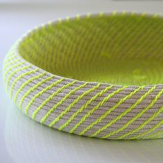 Neon woven rope basket | Handmade by Find Your Happy