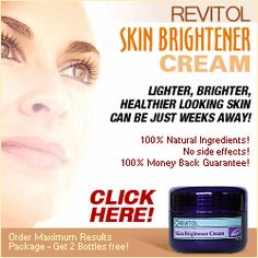 Click Here: http://beautyhealth4menwomen.com/Revitol_Skin_Brightener_Cream.php  |    Revitol Skin Brightener Cream uses safe, plant-based ingredients to help reduce the appearance of freckles, liver-spots, and uneven pigmentation areas while keeping your skin soft and supple with natural emollients, moisturizers and skin-nourishing vitamins. It's a great way to lighten and brighten the appearance of those trouble spots safely with nature's finest ingredients.