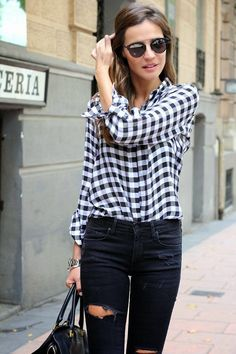 I want #pretty: #Look- Outfits en #Blanco y #negro ! / #Black and #white #outfits ! #BlackandWhite #BlancoYNegro #cool