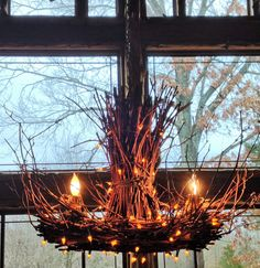 RESERVED FOR STEVE! Light - Rustic Twig Light - Grapevine Chandelier - Rustic Lighting - Twig Chandelier - Rustic Chandelier - Woodland (630.00 USD) by CraftyGeminiCreation