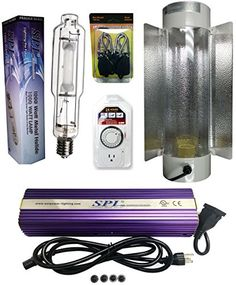 SPL Horticulture Stck 1000 Hydroponic 1000w Watt Grow Light Digital Dimmable Mh System for Plants Cool Tube Reflector Hood Set *** Be sure to check out this.