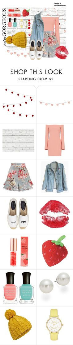 """Untitled #20"" by fridaadyb ❤ liked on Polyvore featuring Berylune, Brewster Home Fashions, Cinq à Sept, Zimmermann, Soludos, Tony Moly, Deborah Lippmann, AK Anne Klein, Miss Selfridge and Kate Spade"