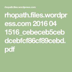 rhopath.files.wordpress.com 2016 04 1516_cebeceb5cebdcebfcf86cf89cebd.pdf Wordpress, Pdf, Math Equations