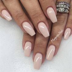 Nude coffin nails @MargaritasNailz
