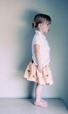 skirt for little B #heatherross #sewing #clothing #children