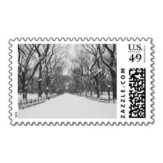 Central Park in Winter, New York City. Postage stamps for any time of the year. #nyc #stamp #newyorkcity #centralpark #gift #holiday #winter #snow