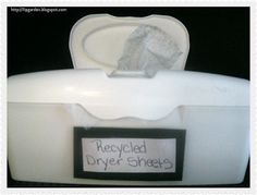 The Frugal Pantry: Make Your Own Dryer Sheets: 6 different methods to try!