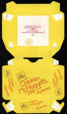 McDonald's - Chicken McNuggets 4-pieces box - 1990 by JasonLiebig, via Flickr