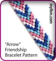 Friendship Bracelet Pattern Arrow Design by My Friendship Bracelet Maker myfbm.com
