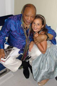 Emily Bear and Quincy Jones.