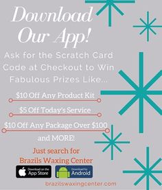 If you haven't asked for our scratch card at checkout, you are missing out on some amazing deals! All you have to do is download our app and ask for the scratch card code when you are finished with your service! #brazilswaxing #waxing #brazils #brazilianwax #wax #browwax #legwax #fl #florida #tally #tallahassee #jax #jacksonville #skin #sexy #smooth