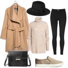 Takki Mango, laukku Zara, poolo Lindex, hattu Seppälä, kengät H&M, farkut Gina Tricot