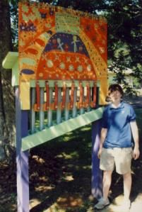 Might be fun for the Childrens Garden - bright colorful music wall Darby Park, Music Garden, Music Wall, Parks, Garden Ideas, Gardens, Colorful, Bright, Children