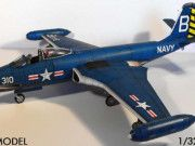 McDonnell F2H-3 Free Aircraft Paper Model Download