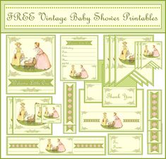 Free Vintage Pictures to Print | FREE Vintage Baby Shower Printables from Printabelle | Catch My Party