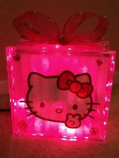 Hey, I found this really awesome Etsy listing at https://www.etsy.com/listing/113423521/hello-kitty-glass-light-up-block-light