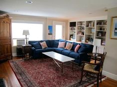 Arched Floor Lamp Behind Sectional