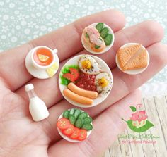 Set miniature Breakfast 2 for dolls and doll от SweetMiniDollHouse