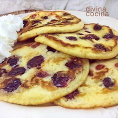 43 New Ideas Breakfast Food Pancakes Baby Food Recipes, Sweet Recipes, Dessert Recipes, Cooking Recipes, Tortas Light, Delicious Desserts, Yummy Food, Crepes And Waffles, Tapas