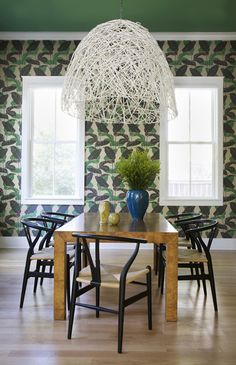 Oversized Dining Room Pendant | design by Angie Hranowsky | House & Home