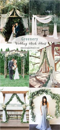 Greenery eucalyptus wedding arches