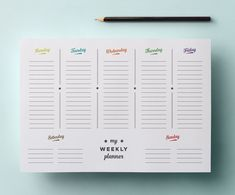 This retro themed printable weekly planner has space for you to plan out your week from Monday to Sunday. Print out as many as you like, or laminate it.
