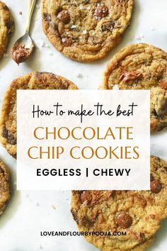 This eggless chocolate chip cookie has a Crisp exterior, fudgy center, and oozing chocolate – you won't stop at one. It is super easy to make & the recipe needs really simple ingredients like Brown Sugar, Chocolate Chips/Chunks, Flour, etc. Make this soft, chewy & gooey chocolate chip cookie in your home today! Read the blog for the full recipe.   Eggfree cookie recipes   Chocolate cookie recipes   easy homemade cookies recipe Best Chocolate Cookie Recipe, Gooey Chocolate Chip Cookies, Chocolate Chips, Easy Homemade Cookie Recipes, Homemade Cookies, Baking Recipes, Eggless Baking, Brown Sugar, Super Easy