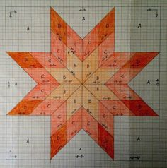 Lone Star Quilt Pattern, Star Quilt Blocks, Star Quilts, Barn Quilt Designs, Barn Quilt Patterns, Quilting Designs, Boy Quilts, Square Quilt, Paper Piecing