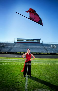 Senior pictures senior portraits stadium color guard flag football field toss Experience - Anyone scheming Band Senior Pictures, Senior Pictures Sports, Volleyball Pictures, Girl Senior Pictures, Senior Girls, Softball Pictures, Cheer Pictures, Colour Guard, Color Guard Flags