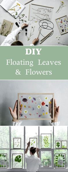 DIY Floating Leaves and Flowers | Give any room a fresh look with these simple decor crafts. #artprojects